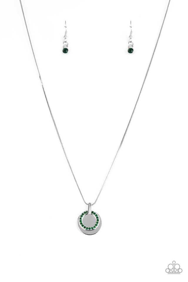 Front and CENTERED - Green - Paparazzi Necklace Image