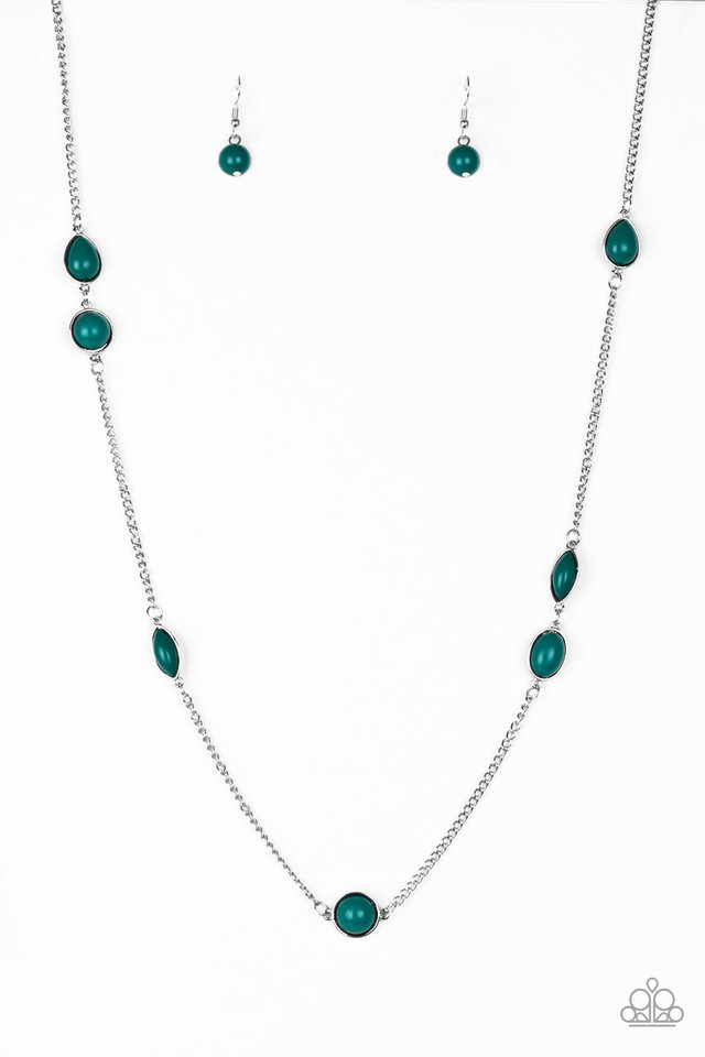 Pacific Piers - Green - Paparazzi Necklace Image