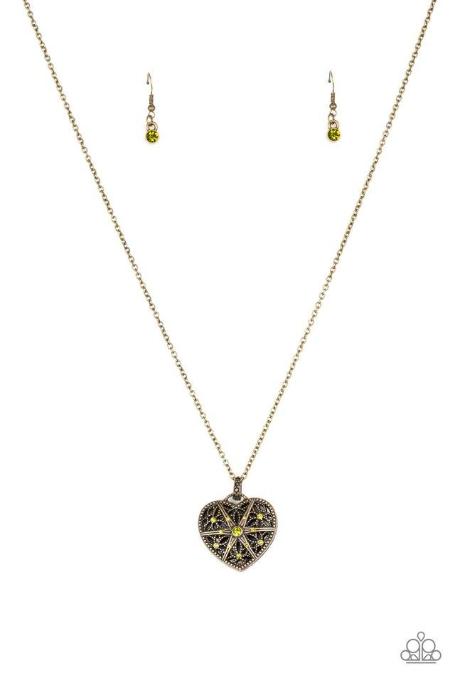 Casanova Charm - Green - Paparazzi Necklace Image