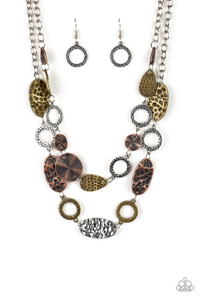 Trippin On Texture - Multi - Paparazzi Necklace Image