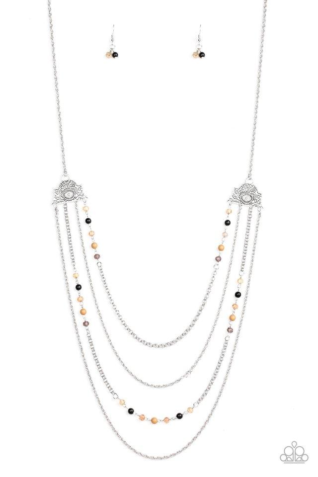 Pharaoh Finesse - Multi - Paparazzi Necklace Image