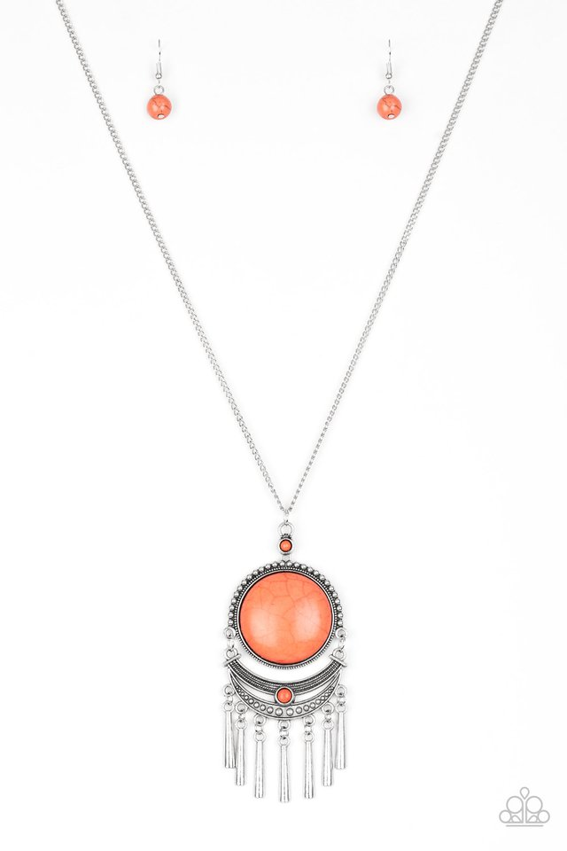 Rural Rustler - Orange - Paparazzi Necklace Image