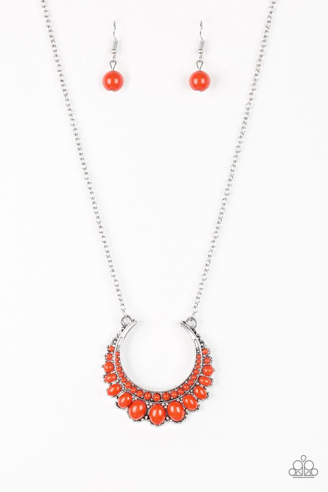 Count To ZEN - Orange - Paparazzi Necklace Image