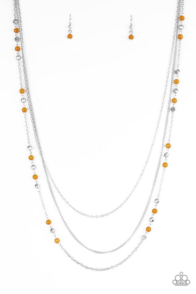 Colorful Cadence - Orange - Paparazzi Necklace Image