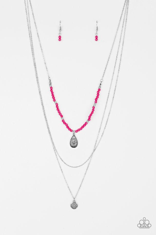 Mild Wild - Pink - Paparazzi Necklace Image