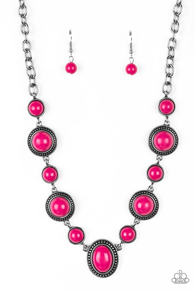 Voyager Vibes - Pink - Paparazzi Necklace Image