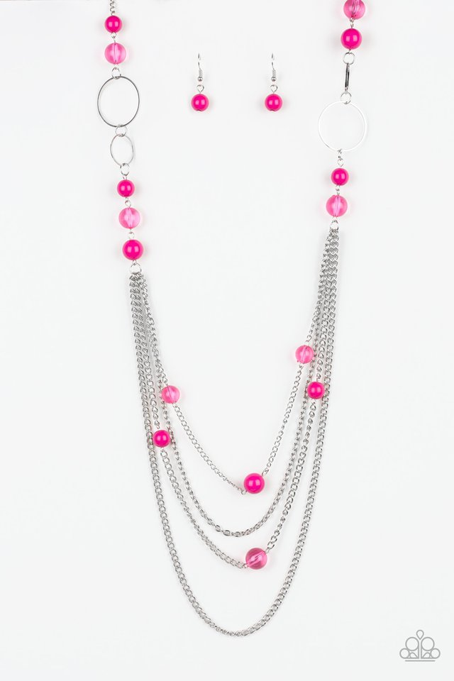 Bubbly Bright - Pink - Paparazzi Necklace Image