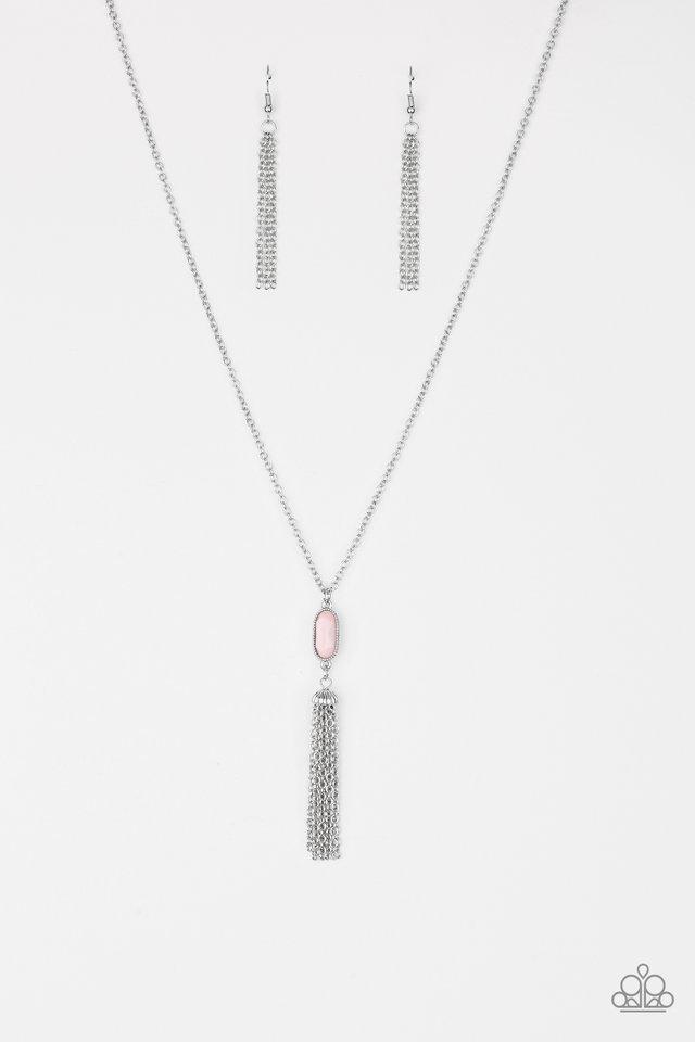 Tassel Tease - Pink - Paparazzi Necklace Image
