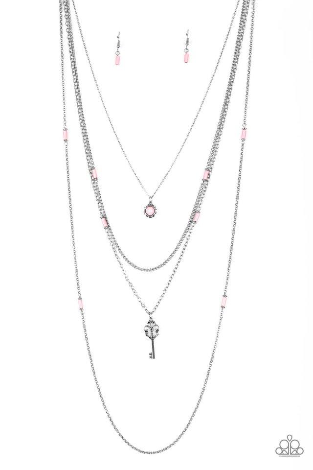 Key Keynote - Pink - Paparazzi Necklace Image