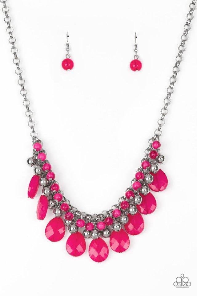 Trending Tropicana - Pink - Paparazzi Necklace Image