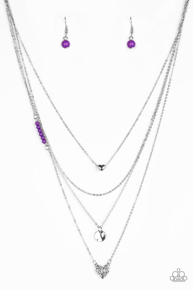 Gypsy Heart - Purple - Paparazzi Necklace Image