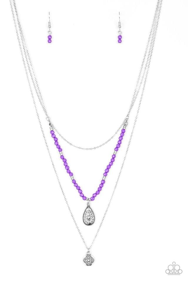 Mild Wild - Purple - Paparazzi Necklace Image