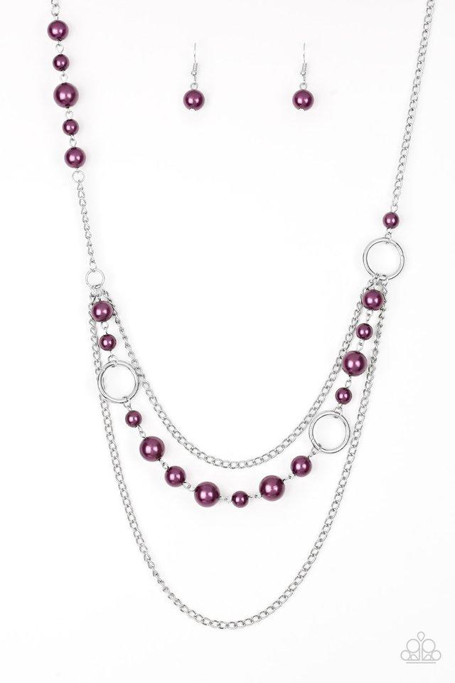 Party Dress Princess - Purple - Paparazzi Necklace Image