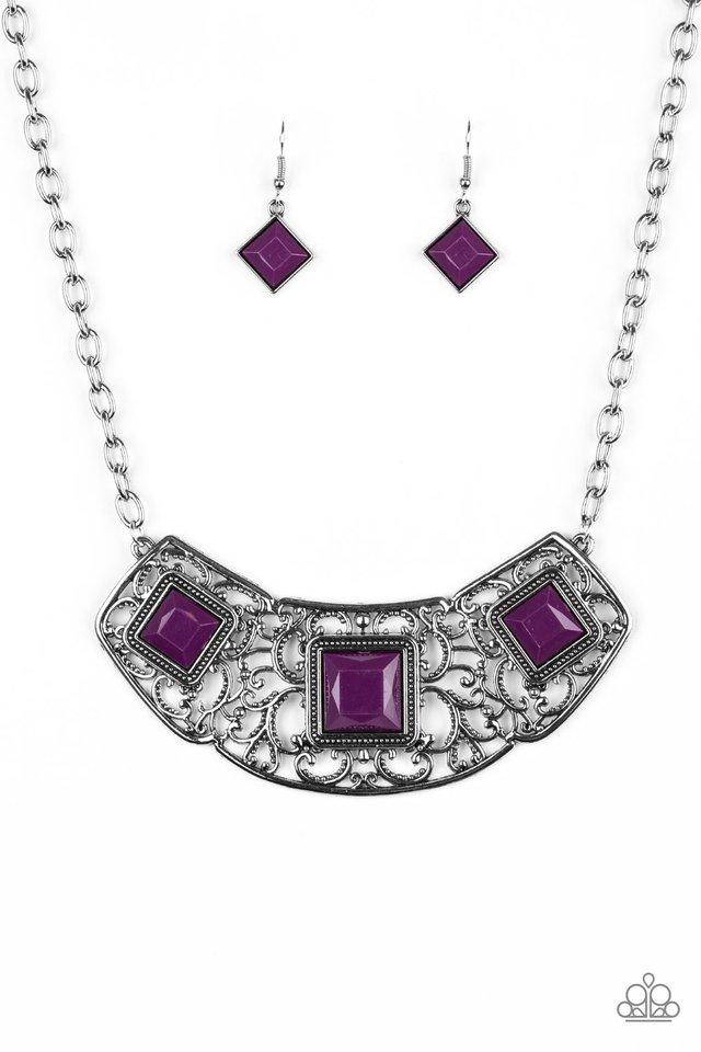 Feeling Inde-PENDANT - Purple - Paparazzi Necklace Image