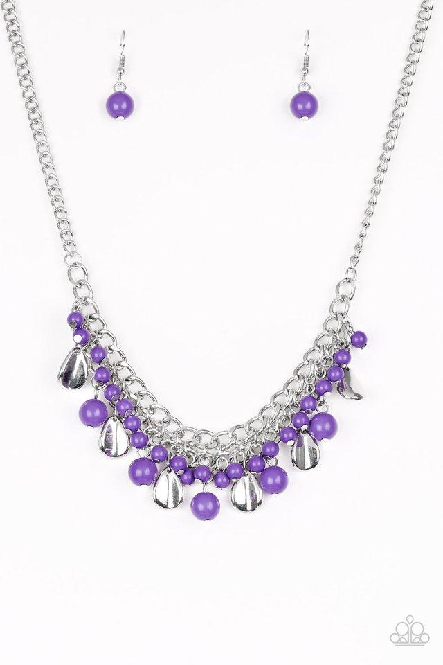 Summer Showdown - Purple - Paparazzi Necklace Image