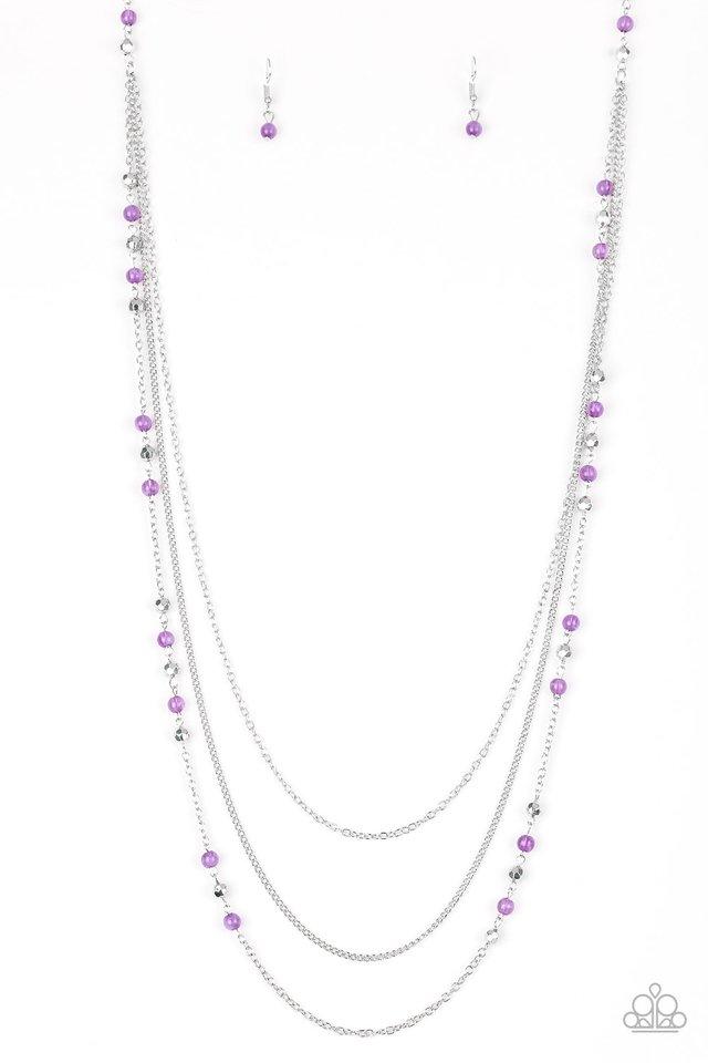 Colorful Cadence - Purple - Paparazzi Necklace Image