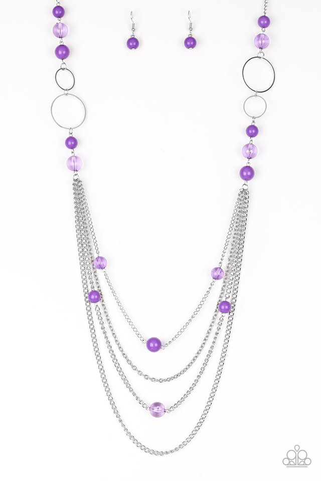 Bubbly Bright - Purple - Paparazzi Necklace Image