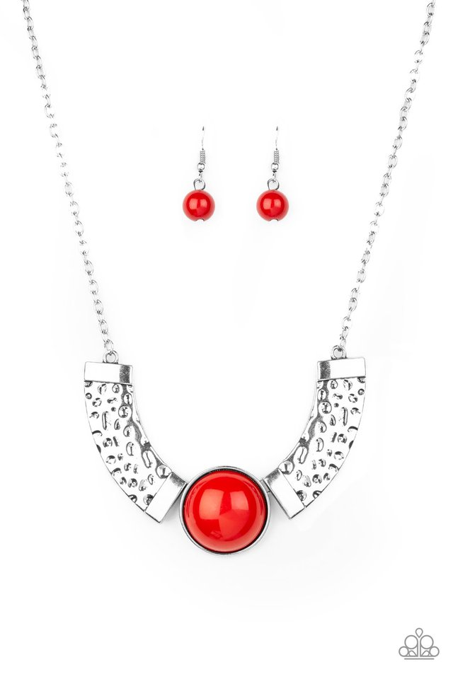 Egyptian Spell - Red - Paparazzi Necklace Image