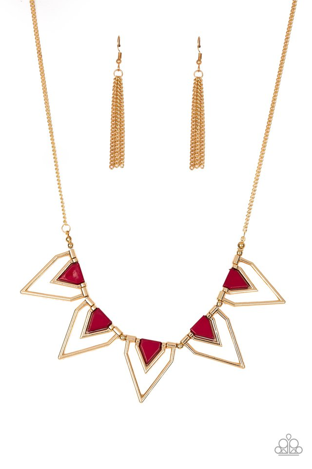 The Pack Leader - Red - Paparazzi Necklace Image