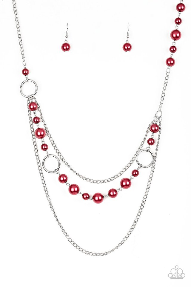 Party Dress Princess - Red - Paparazzi Necklace Image