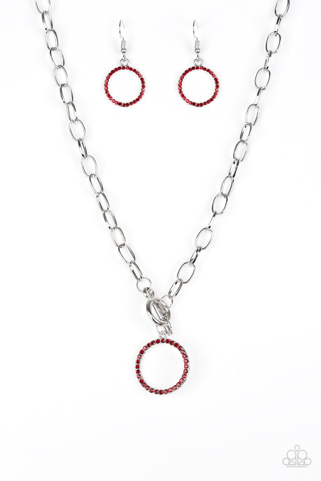 All In Favor - Red - Paparazzi Necklace Image