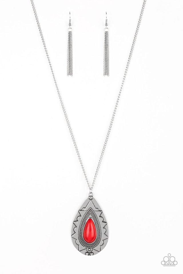 Sedona Solstice - Red - Paparazzi Necklace Image