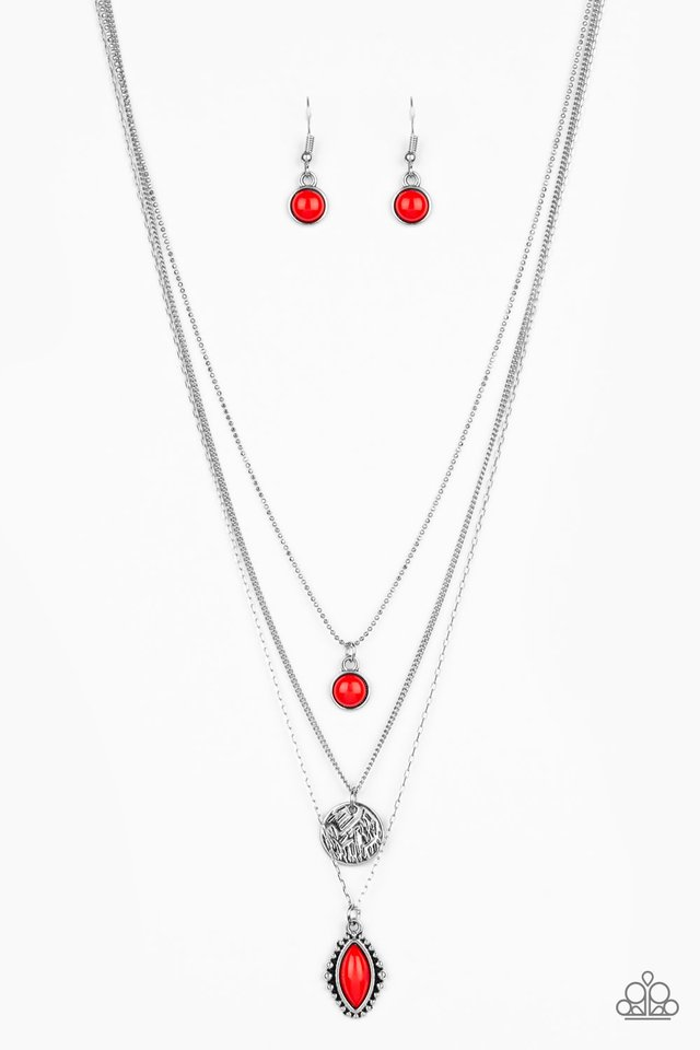 Tide Drifter - Red - Paparazzi Necklace Image