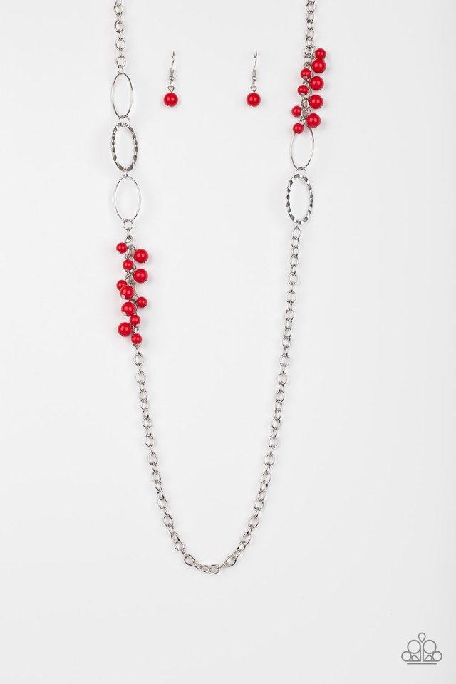 Flirty Foxtrot - Red - Paparazzi Necklace Image