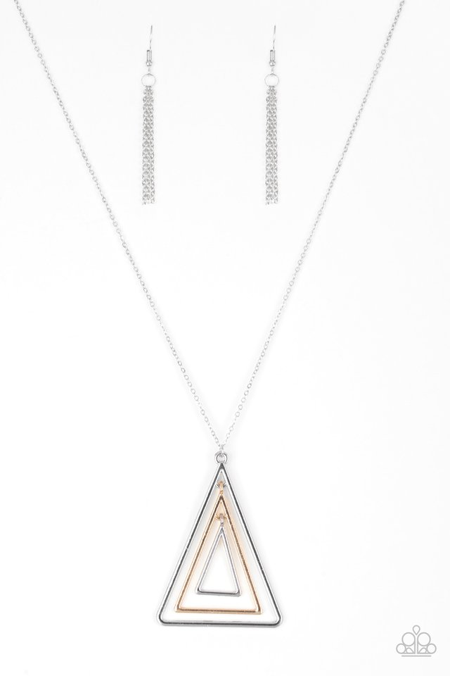 TRI Harder - Silver - Paparazzi Necklace Image