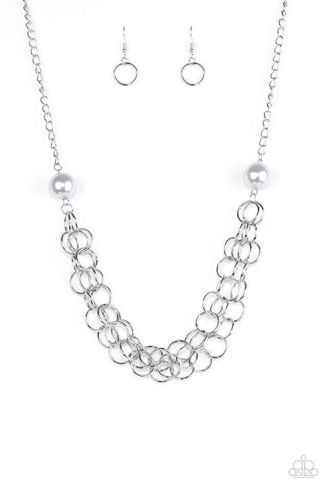 Daring Diva - Silver - Paparazzi Necklace Image