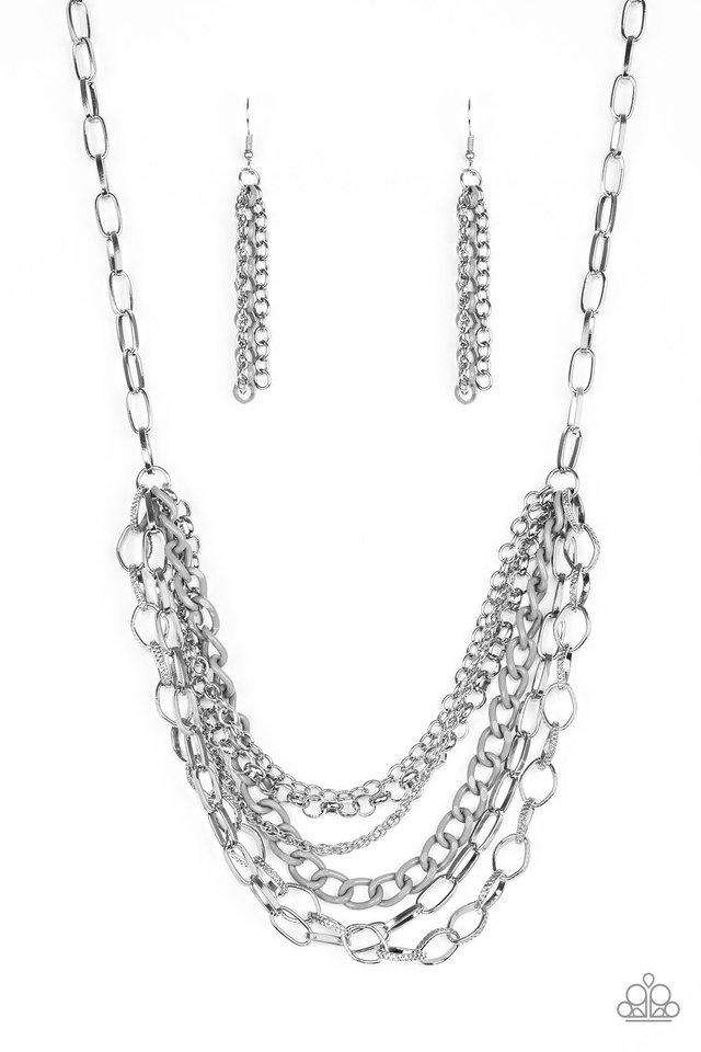 Color Bomb - Silver - Paparazzi Necklace Image