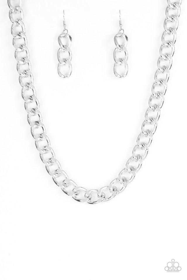 Heavyweight Champion - Silver - Paparazzi Necklace Image