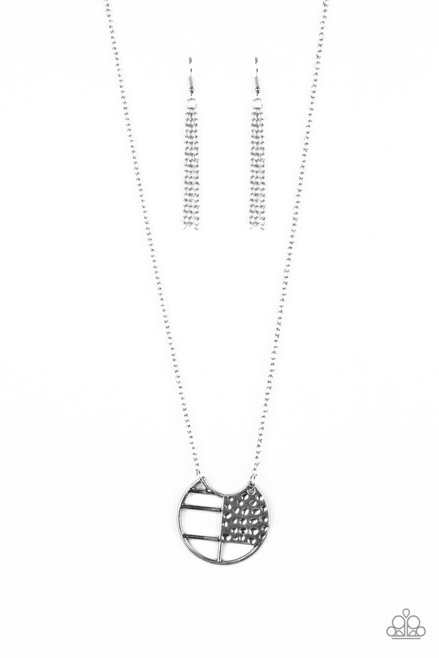 Abstract Aztec - Silver - Paparazzi Necklace Image
