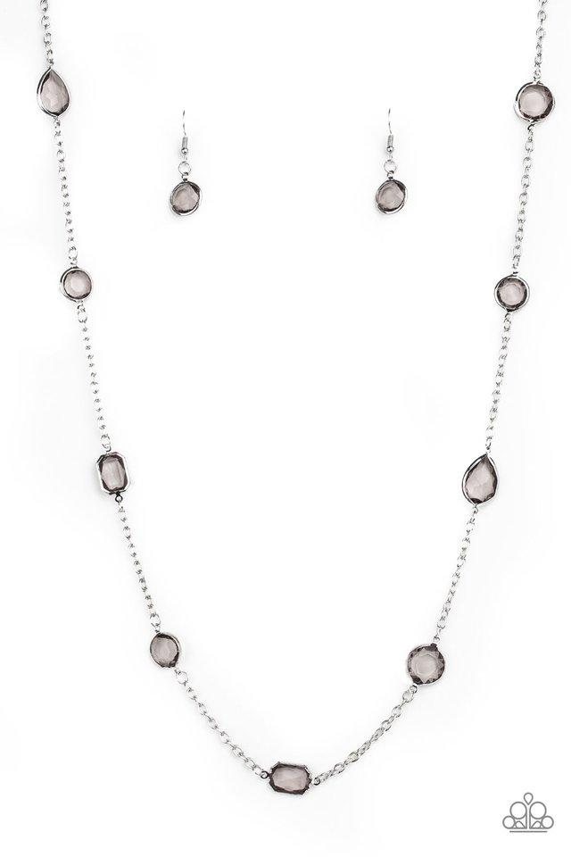 Glassy Glamorous - Silver - Paparazzi Necklace Image