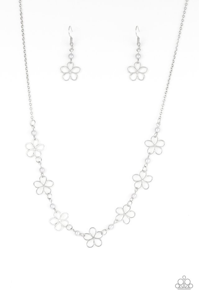 Always Abloom - Silver - Paparazzi Necklace Image
