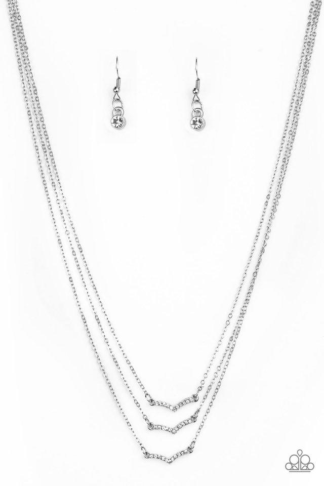 Pretty Petite - White - Paparazzi Necklace Image