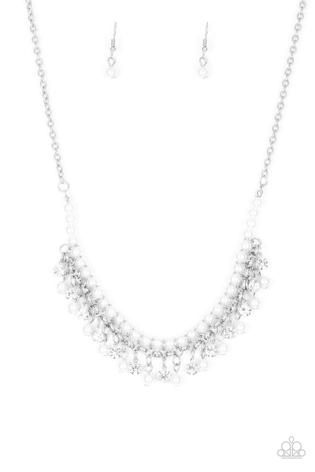 A Touch of CLASSY - White - Paparazzi Necklace Image