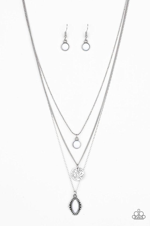 Tide Drifter - White - Paparazzi Necklace Image