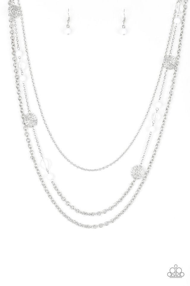 Pretty Pop-tastic! - White - Paparazzi Necklace Image