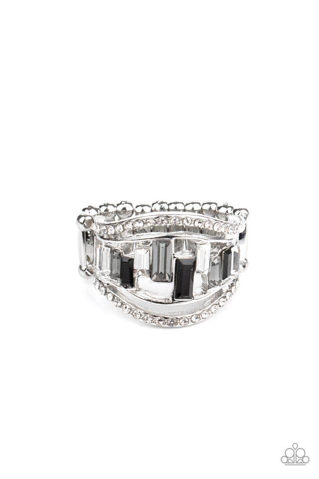Treasure Chest Charm - Black - Paparazzi Ring Image