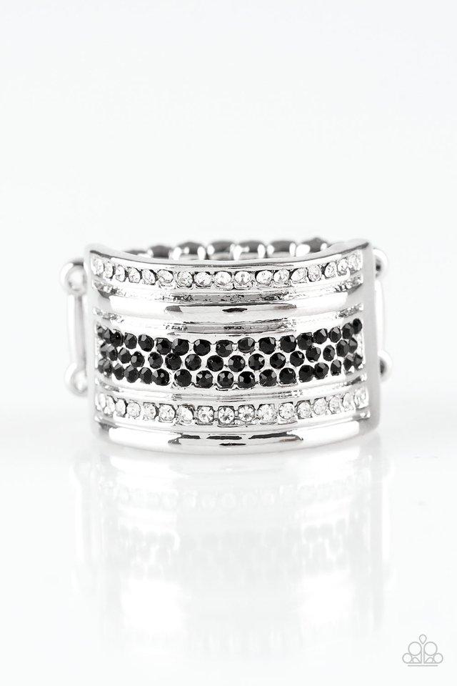 Top Dollar Drama - Black - Paparazzi Ring Image