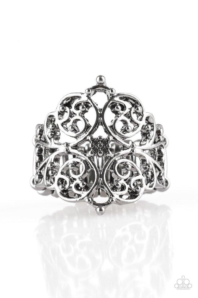 Victorian Valor - Black - Paparazzi Ring Image
