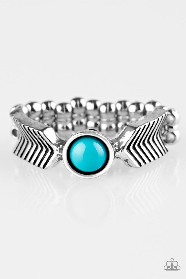 Awesomely ARROW-Dynamic - Blue - Paparazzi Ring Image