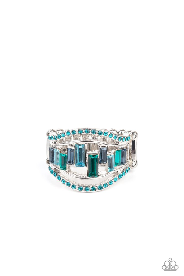 Treasure Chest Charm - Blue - Paparazzi Ring Image