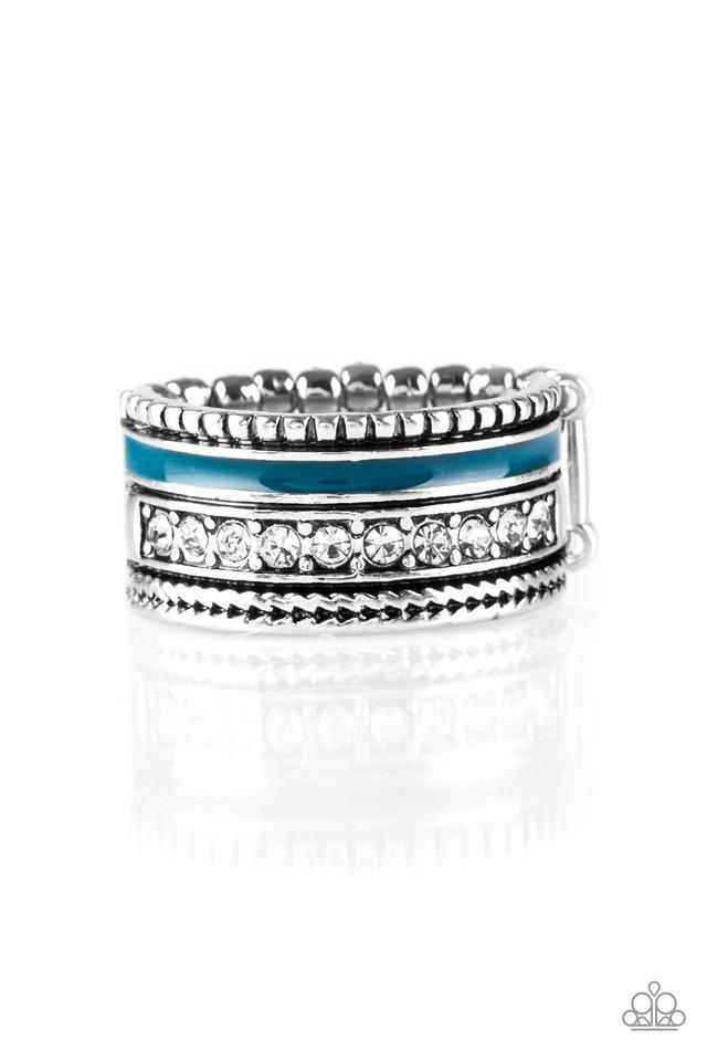 Rich Rogue - Blue - Paparazzi Ring Image