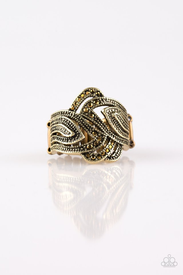Fire and Ice - Brass - Paparazzi Ring Image