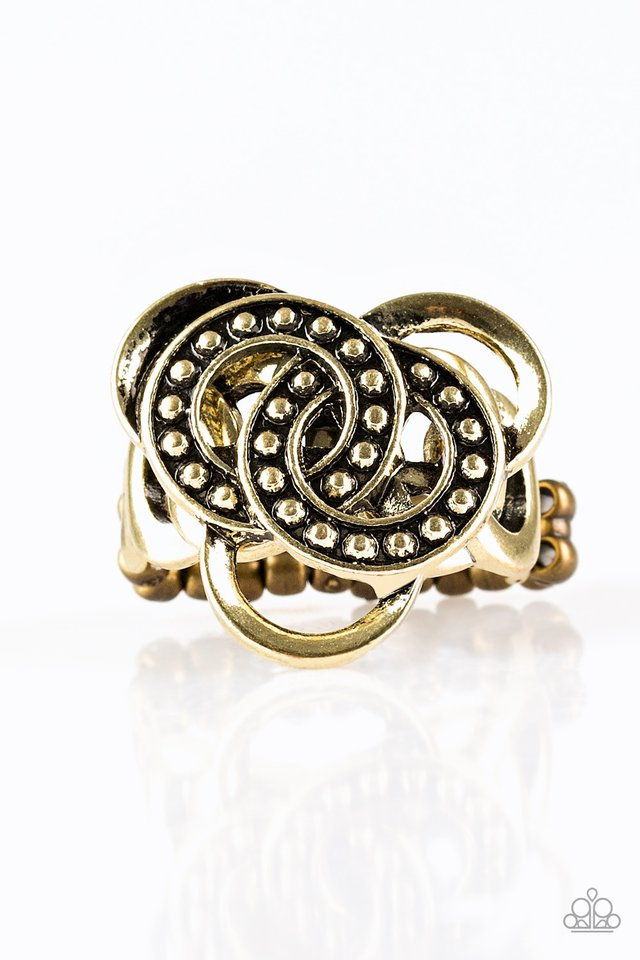 Dizzying Distraction - Brass - Paparazzi Ring Image