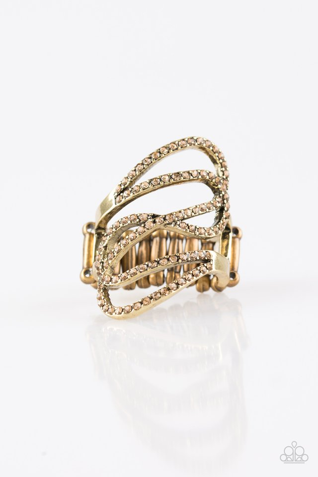 Chasing Starlight - Brass - Paparazzi Ring Image
