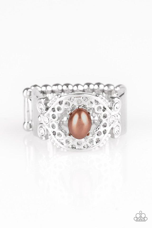 Mod Modest - Brown - Paparazzi Ring Image