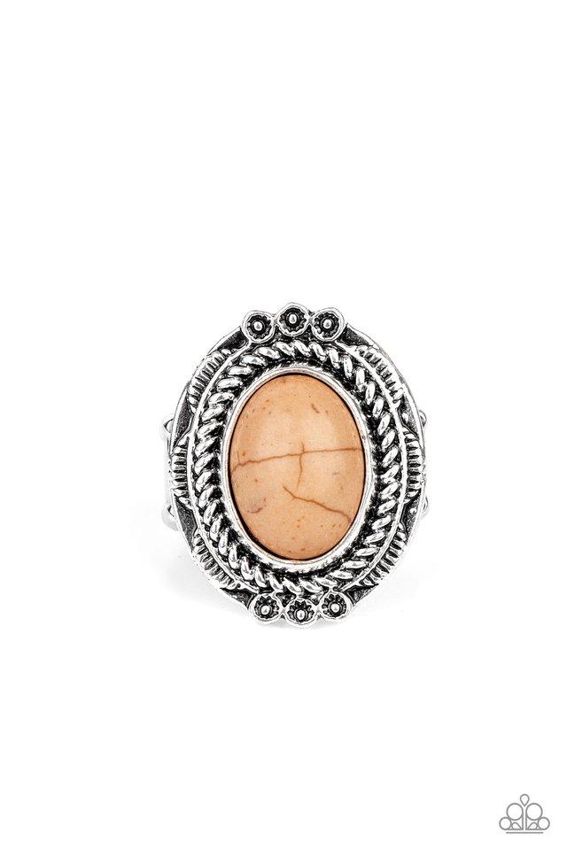 Tumblin Tumbleweeds - Brown - Paparazzi Ring Image